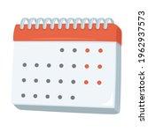 calendar sign emoji icon... | Shutterstock .eps vector #1962937573