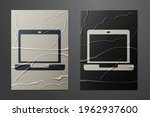 white laptop icon isolated on... | Shutterstock .eps vector #1962937600