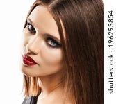 sensual woman portrait. face.... | Shutterstock . vector #196293854