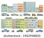 houses in the city with cars on ... | Shutterstock .eps vector #1962948820