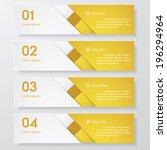 design clean number banners... | Shutterstock .eps vector #196294964