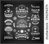 summer design elements and... | Shutterstock .eps vector #196296374