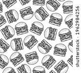 seamless pattern of burger in...   Shutterstock .eps vector #1962984256