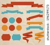 vector set of design elements | Shutterstock .eps vector #196299173