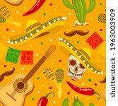 cinco de mayo seamless pattern...   Shutterstock .eps vector #1963003909