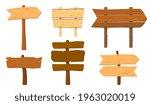 cartoon wooden pointers. wood...
