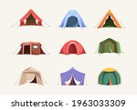 tent colored. outdoor house for ...   Shutterstock .eps vector #1963033309