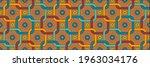 seamless pastel pattern in 60s... | Shutterstock .eps vector #1963034176