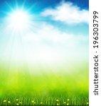 vector illustration of a bright ... | Shutterstock .eps vector #196303799