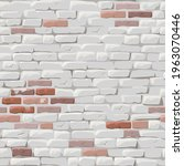 brick red wall painted white...   Shutterstock .eps vector #1963070446