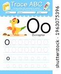 alphabet tracing worksheet with ... | Shutterstock .eps vector #1963075396