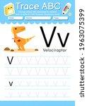 alphabet tracing worksheet with ... | Shutterstock .eps vector #1963075399