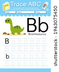 alphabet tracing worksheet with ... | Shutterstock .eps vector #1963075450