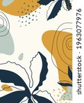abstract organic vector shapes  ... | Shutterstock .eps vector #1963077976