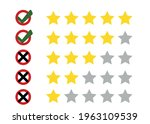 rating stars with tick and...   Shutterstock .eps vector #1963109539