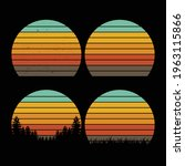 retro  vintage circle   sunset... | Shutterstock .eps vector #1963115866