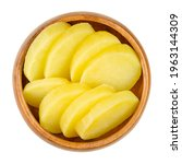cooked and sliced potatoes  in...   Shutterstock . vector #1963144309