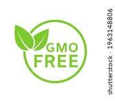 gmo free icon. healthy organic... | Shutterstock .eps vector #1963148806