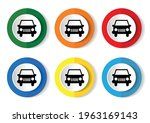 car icon  set of circle buttons ... | Shutterstock .eps vector #1963169143