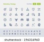 marketing strategy icons.... | Shutterstock .eps vector #196316960