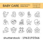 baby care and safety icon set....   Shutterstock .eps vector #1963193566