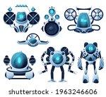 underwater robot and rov... | Shutterstock .eps vector #1963246606