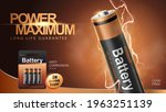 aa or aaa battery ad banner... | Shutterstock .eps vector #1963251139