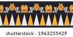 tribal lotus flower border...   Shutterstock .eps vector #1963255429