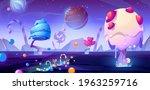 candy planet cartoon poster... | Shutterstock .eps vector #1963259716