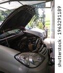 The Car Engine Door Opened