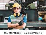 Portrait Of Asian Worker Man ...