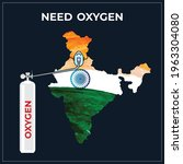 need oxygen for india....   Shutterstock .eps vector #1963304080