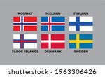 vector map and flag nordic... | Shutterstock .eps vector #1963306426