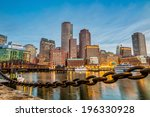 boston harbor and financial... | Shutterstock . vector #196330928