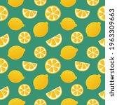 lemon slices seamless pattern... | Shutterstock .eps vector #1963309663
