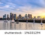 Boston City Skyline View From...