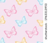 vector butterfly seamless... | Shutterstock .eps vector #1963313953