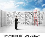 businessman looking at business ... | Shutterstock . vector #196332104