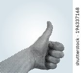 vector dotted thumb up... | Shutterstock .eps vector #196337168