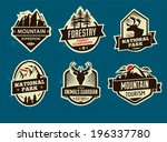 set of mountain adventure and... | Shutterstock .eps vector #196337780