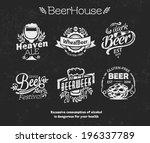 retro style beer badges | Shutterstock .eps vector #196337789