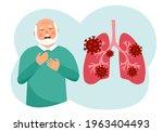 sick senior man has chest pain...   Shutterstock .eps vector #1963404493