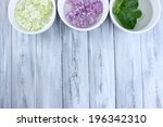 aromatherapy treatment bowls... | Shutterstock . vector #196342310