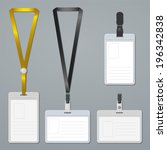 badge  clip and lanyard... | Shutterstock . vector #196342838