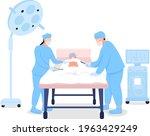 doctors at surgical procedure...   Shutterstock .eps vector #1963429249
