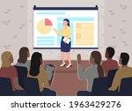 business conference flat color...   Shutterstock .eps vector #1963429276