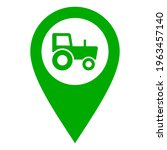 Tractor And Location Pin On...