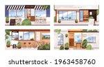 facades of modern cafes  coffee ... | Shutterstock .eps vector #1963458760