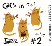 Cats In Jazz Vector Set  2....
