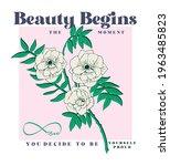 Flower Fashion Slogan Print...